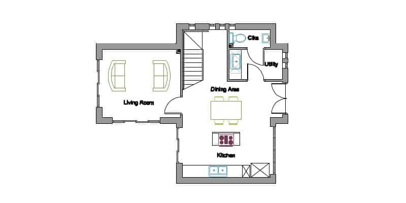 Timber Frame House Kit 03 Ground Floor Plan