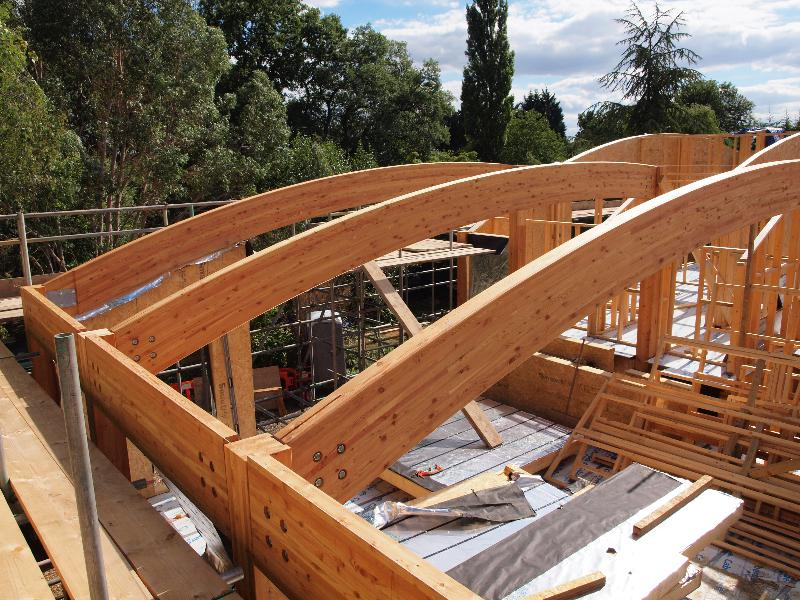 Glulam beam portal frame vision development for Custom home build calculator