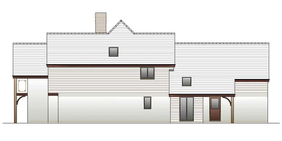 Timber Frame House Kit 13 Side Elevation