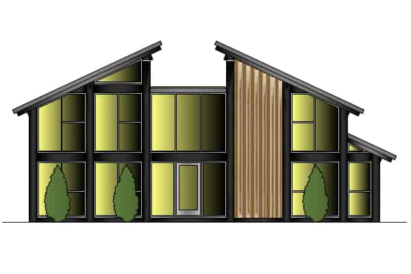 Timber Frame House Kit 14 Front Elevation