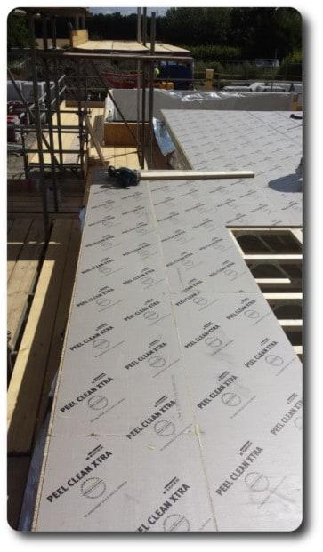 Flooring Protected by Peel Clean Xtra Film