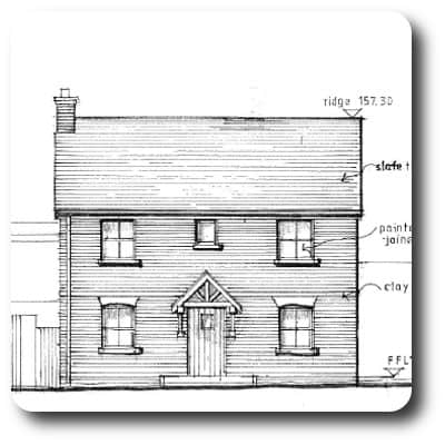 Architect Drawing of New Timber Frame Home
