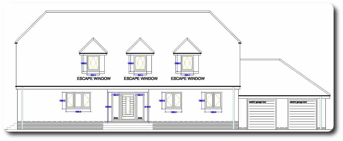 Front Elevation of Modular Timber Frame Home