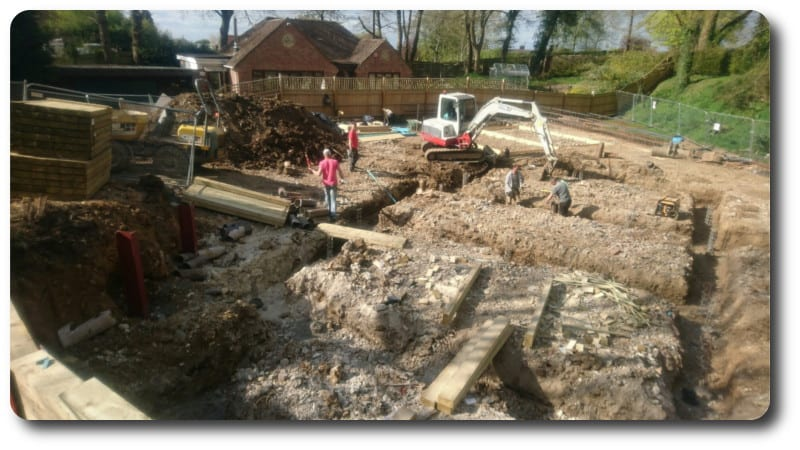 Groundworks for Design and Build Timber Frame Home